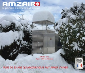 Pompe à chaleur AMZAIR sous la neige